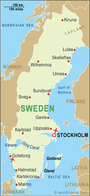 UNIGLOBE Travel International Travel Planning - Sweden no go zones map