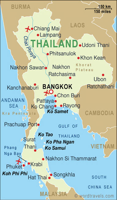 Thailand Map, Thailand Maps and Travel Guides
