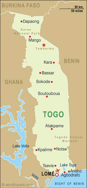Togo map.