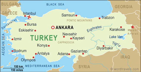 Turkey Map, Turkey Travel Maps from Word Travels
