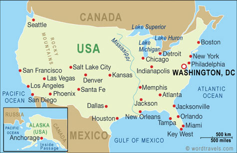 Maps Us Map Cities United States - Map of united states and cities
