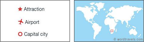 Zambia map.