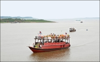 Boats on the Tonle Sap, Cambodia