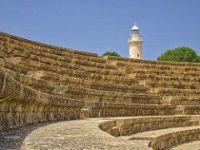 Odeon and Paphos lighthouse