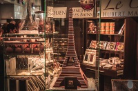 A chocolate model of the Eiffel Tower