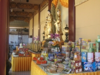 A table at the Hungry Ghost Festival