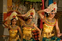 Traditional dancers performing in Ubud