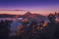 Sunset over Mount Bromo