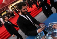 Actor Andrew Garfield at the Venice Film Festival