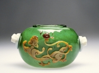 Jar with Design of a Dragon