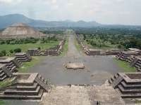 View from the Pyramide de la Luna in Teotihuacan