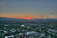 Missoula and the surrounding scenery.