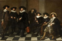 Abraham de Vries - Portrait of the regents of theAmsterdam city orphanage in 1633