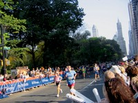 Runners draw near to the finish line