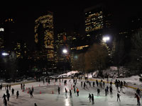 Wollman Rink by night