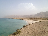 White sandy Beaches of Oman