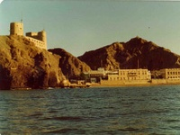 Fort Jalali dominating Muscat Harbour.