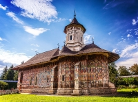 The Moldovita Monastery, a Romanian Orthodox monastery.