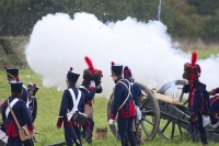 A reenactment of the Battle of Borodino, Moscow