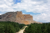 View of Crazy Horse Memorial in South Dakota