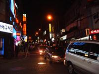 Itaewon at night